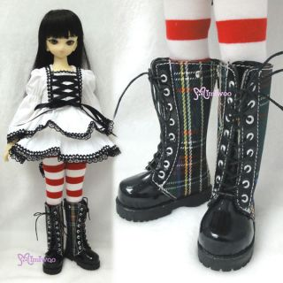 MSD DOD DOC 1 4 Mini bjd Dollfie Doll Fashion Shoes Green Checker