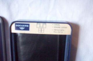 dockers tri fold wallet nib black calf leather