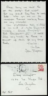 Jean Rogers Vintage 1978 Original Signed Handwritten Letter ALS