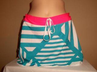 Nike Womens Dri Fit Running Blue Pink Woven Skort Tennis Skirt Short