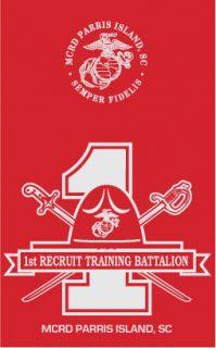 Marine Corps MCRD Parris Island 1st Battalion Shirt