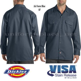 Men Dickies Shirt Long Sleeve Work Shirts Button Down s M L XL 2X 3X