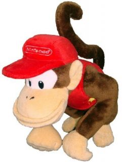 Super Mario Plush 6 Diddy Kong Soft Stuffed Plush Toy