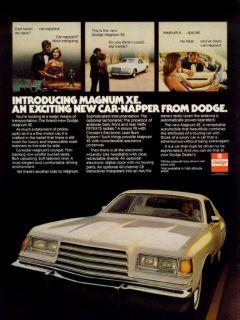 1978 Dodge Magnum XE Original 8x11 Print Ad