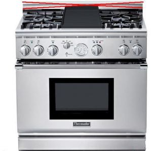 Thermador PRG364EDG 36 Professional Natural Gas Range Stainless Steel