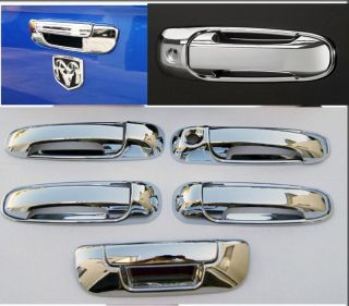 02 08 Dodge RAM Chrome Door Handle Tailgate Covers Set