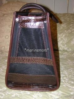 Classy Brighton Dog Pet Carrier Bag Black Brown Excellent Condition $
