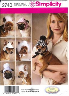 Simplicity Dog Cat Clothes Pet Clothing Sewing Pattern