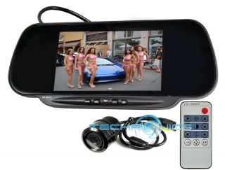 TFT LCD MONITOR CLIP ON FACTORY REAR VIEW MIRROR W/ FLUSH IN CAMERA