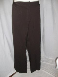 34 Silhouettes Two Way Stretch Wide Leg Dress Pants Black New