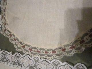 Vintage Estate Sale Lot of 7 Doilies Dresser Scarf Linen Cotton Lace