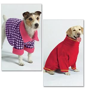 Dog Clothes Coat Shirt Pullover Turtleneck Easy Butterick Pattern 5275