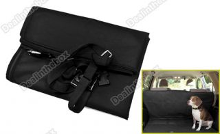 Hot Black Cradle Dog Car Rear Back Seat Cover Pet Mat Blanket Hammock