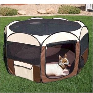 New Popping Up Easy Pets Pen Family Dog Kennel Portable Travel K9