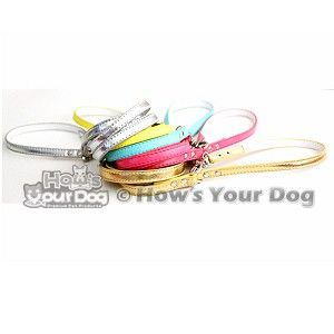 Rhinestone Buckle Personalized Dog Collar Leash Set
