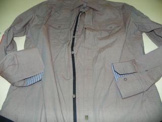 Dragonfly Dress Club Shirt XL X Large 16.5 X 36 / 37 Light Purple Navy