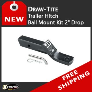 Draw Tite Trailer Tow Hitch Ball Mount Kit 2 Drop include Pin Clip