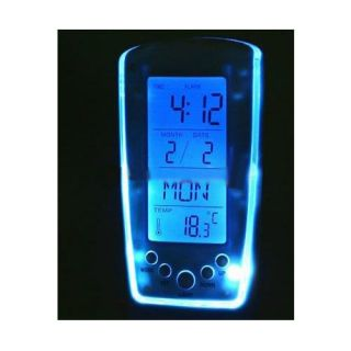 white package included 1 x blue backlight led digital alarm clock