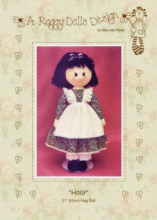 Primitive Homespun Rag Doll Sewing Craft Pattern