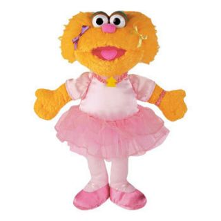 Sesame Street Zoe Ballerina 12 Stuffed Plush Doll Toy by Gund New