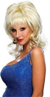 New Womens Wigs Blonde Country Dolly Parton Costume Wig