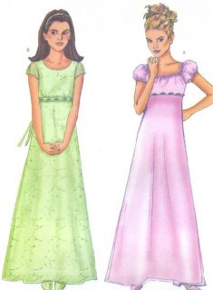 Dress Sewing Pattern Neck Sleeve Variations Raised Waist 6489 Easy