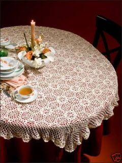 Table Runners Crochet Patterns Tablecloth Doily Dresser