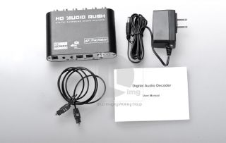 Ac3 DTS PCM Audio Gear Digital Surround Sound Rush Decoder HD