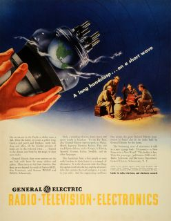 Electric GE Logo Radio Television Electronics Short Wave Soldier