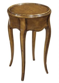 French Occasional Side End Drinks Table Waxed Cherry Finish Solid Wood