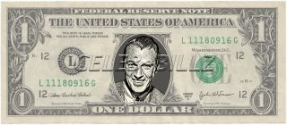 Gary Cooper Dollar Bill Mint Real $$ Celebrity Novelty Collectible