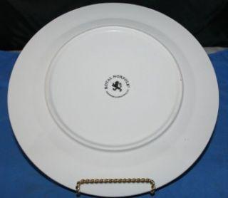 Royal Norfolk Greenbrier Int Dinner Plate s Red Rim