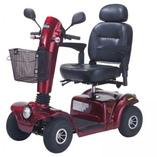 """Drive Medical Gladiator 4 Wheel Heavy Duty Mobility Scooter 20"""" Seat"""
