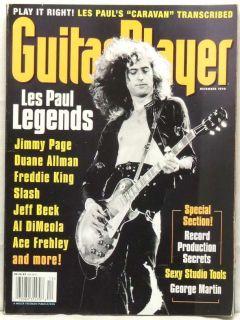 Guitar Player Magazine Jimmy Page Duane Allman Freddie King Slash Jeff