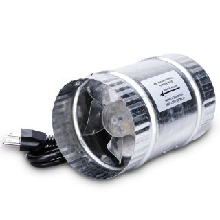 Inline Duct Fan Exhaust Blower For Grow Room Box Tent Light Cool