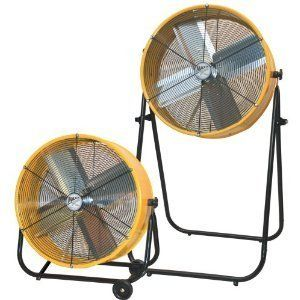 24 inch 2 Speed Drum Stand Fan Rolling Shop New