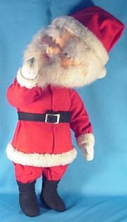 Rare Early Vintage Uncommon Christmas Santa Claus Store Display Doll