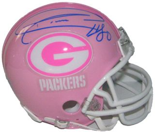 click to preview donald driver signed auto pink green bay packers mini