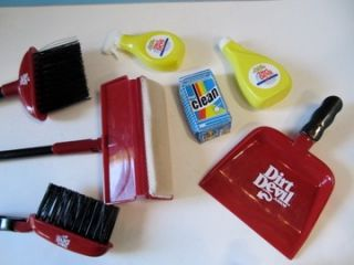 Dirt Devil Toy Cleaning Set Lot w/ Hand Vac Vacuum Broom Mop All