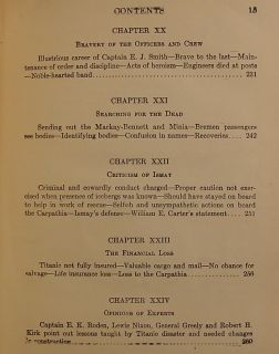 1912 Book SS Titanic Maritime 1st Edition Antique RMS White Star Line