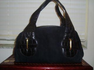 Donald J Pliner Black Leather Hobo Handbag