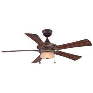 Hampton Bay Winthrop 52 in Rustic Bronze Ceiling Fan New