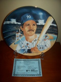 Don Mattingly New York Yankees Sports Impressions 11 Inch Plate