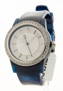 Donna Karan Womens Fashion Crystal Rubber Watch NY8106