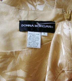 Donna Morgan Gold Brocade Metallic Empire Dress 4 New Party Evening