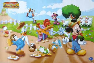 LIFE ON THE FARM POSTER FROM ASIA   Mickey Mouse, Donald Duck, Goofy