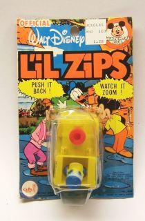 Disney Donald Duck LIL Zips No 6338 Push It Back Watch It Zoom Toy