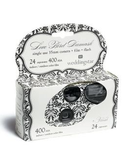 Guest Favor Gift Love Bird Damask Single Use Disposable Camera