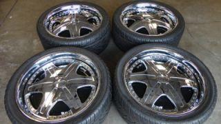 Dub Trump 24 Chrome Spinners Wheels Rims GM 6 Lug Escalade Chevy