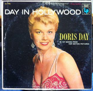 DORIS DAY day in hollywood LP VG+ CL 749 Vinyl 1956 Record 6 Eye Mono